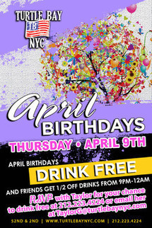 April Birthday Bash - Events | Turtle Bay NYC | Best Bars Midtown NYC | Scoop.it