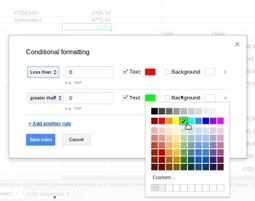 Conditional Formatting in Google Sheets | iGeneration - 21st Century Education | Scoop.it