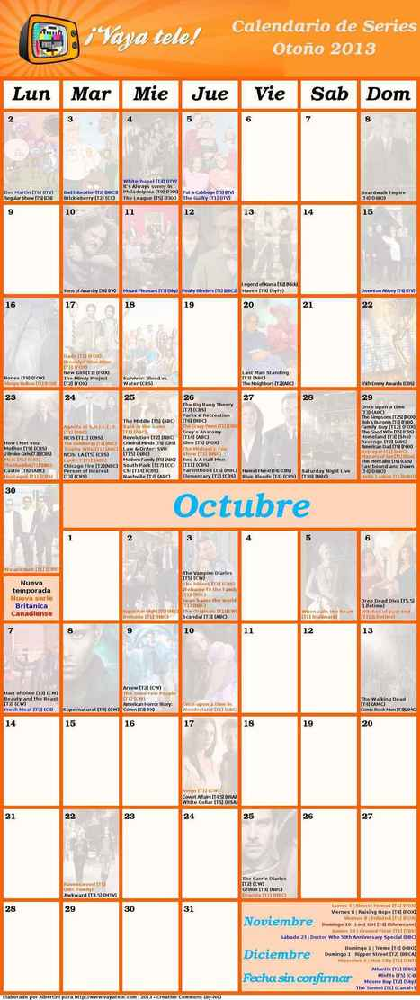 Calendario Otoño 2013 - 1/1 - Tamaño original | series | Scoop.it
