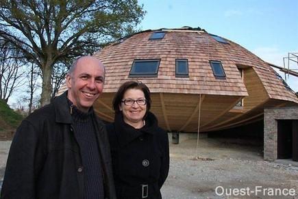 [témoignage] Leur maison ronde sera un cocon tournant - maison bois | Immobilier | Scoop.it