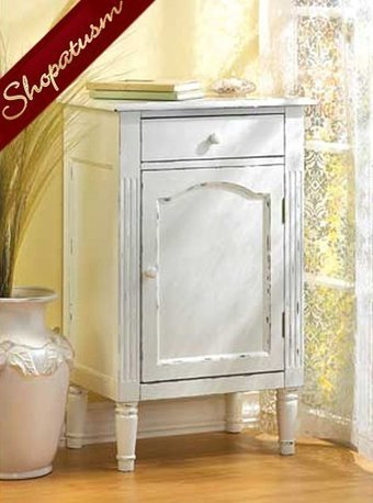 White Shabby Distressed Antiqued Wood Storage Cabinet Nightstand | Friends Online Stores | Scoop.it