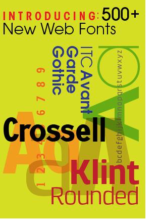 Monotype Imaging releases 500 new Web fonts | Website Typography | Scoop.it