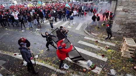 Quimper : retour au calme après une manifestation marquée par des échauffourées | Nouvelles économiques TPE PME | Scoop.it