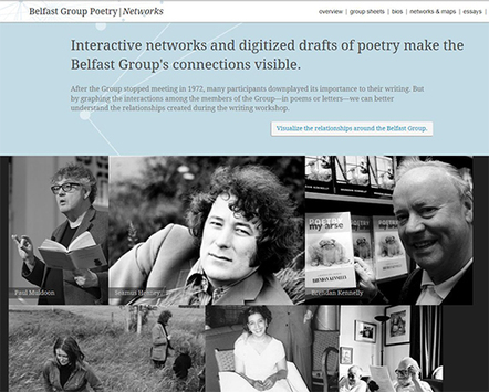 Digital scholarship center maps connections between Belfast poets - Emory News Center | The Irish Literary Times | Scoop.it