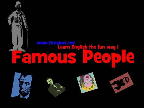 FAMOUS PEOPLE - 5 audio clues, 1 picture to guess the famous people. www.timsbox.net | JEUX ANGLAIS GRATUIT COLLEGE 4ème 3ème | Scoop.it