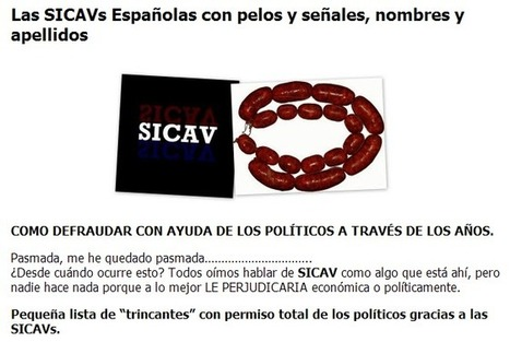 Las SICAVs Españolas con pelos y señales, nombres y apellidos | Txemabcn | Scoop.it