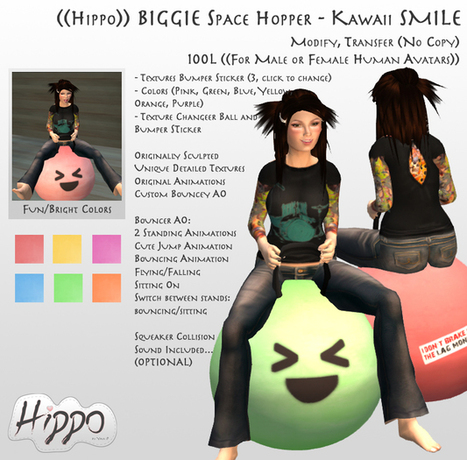 Biggie Space Hopper Kawaii by Hippo | Teleport Hub - Second Life Freebies | Second Life Freebies | Scoop.it