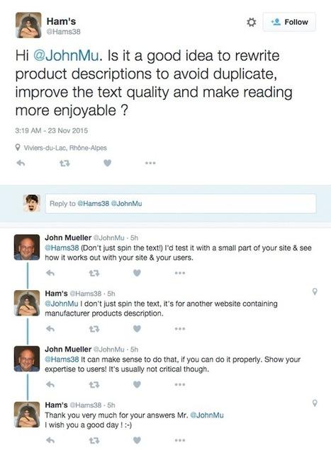 Google's John Mueller: Expert Product Descriptions Not Critical For Rankings?   Référencement Web   Scoop.it