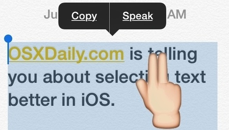 Select Paragraphs & Large Text Block Easily in iOS with a Two-Finger Tap - OSXDaily | Technology Tools For Education | Scoop.it