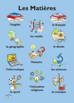 Vocabulaire : les matières à l'école | FLE enfants | Scoop.it