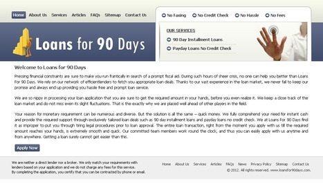 Loans for 90 Days- Easy Cash Solution Helps | Loans For 90 Days | Scoop.it