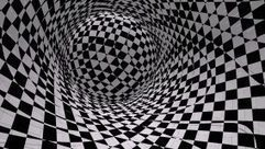 In The Style Of Optical Visual Illusions - Op Art. Background Black And White Video 3D. Hypnotic Movement Strips. Stock Footage Video 13149344 - Shutterstock | The brain and illusions | Scoop.it