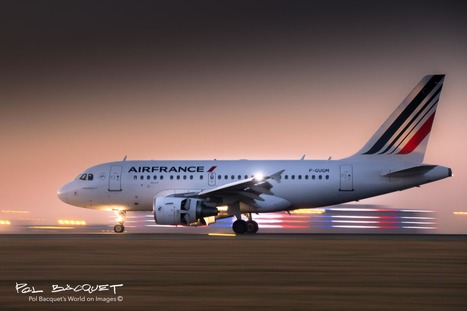 An Air France Airbus A318 landing early in Paris | Aviation & Airliners | Scoop.it