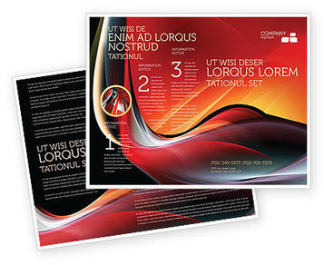 Abstract Red Wave Brochure Template | Brochure Templates | Scoop.it