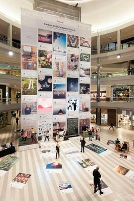 Caribou Coffee's five-story Pinterest board at Mall of America goes live - Minneapolis / St. Paul Business Journal | Retail | Scoop.it