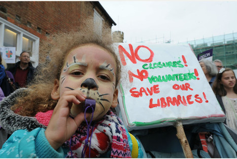 Save Lincolnshire Libraries stage protest at County Offices - 27-01-15 | Impact of libraries | Scoop.it