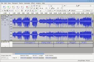 Audacity : découper les chansons de l'enregistrement d'unerépétition   Photo, Illustration, Montage, Modélisation & Musique LIBRE !   Scoop.it