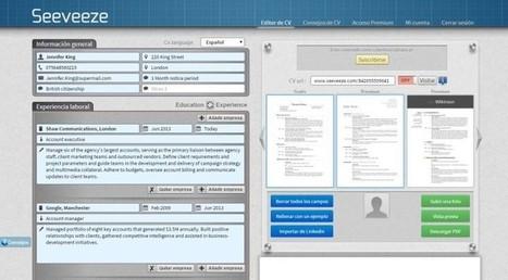 Plataforma online de desarrollo de curriculums con vista previa en tiempo real | Emplé@te 2.0 | Scoop.it