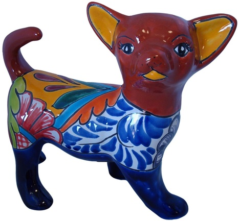 Hand Painted Talavera Chihuahua Puppy | Mexican Decor | Scoop.it