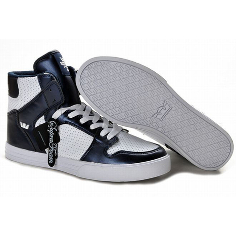 navy blue and white supra vaider perf men shoes | popular list | Scoop.it