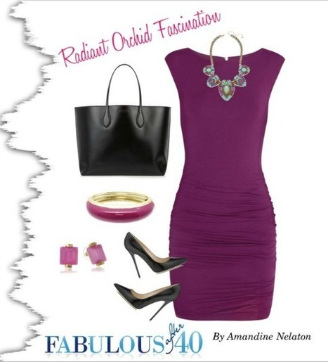 7 Ways to Wear Radiant Orchid | Fabolous after 40 | Scoop.it