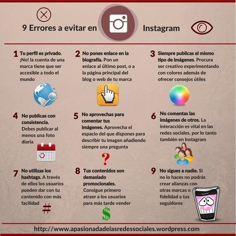 Infografía: 9 errores a evitar en Instagram   Informática Educativa y TIC   Scoop.it