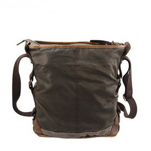 Rustic pigskin and waxed canvas bucket bags daypack unisex from Vintage rugged canvas bags | Best mens style outlet | Scoop.it