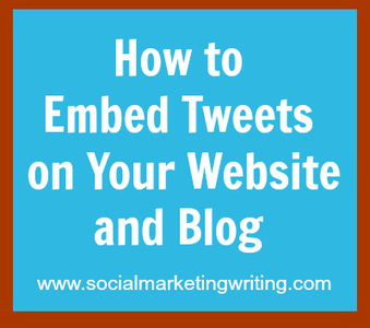 How to Embed Tweets on Your Website and Blog | Social Media Job Hunt | Scoop.it