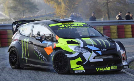 Valentino Rossi drives his Ford Fiesta RS WRC on Twitpic | Ductalk Ducati News | Scoop.it