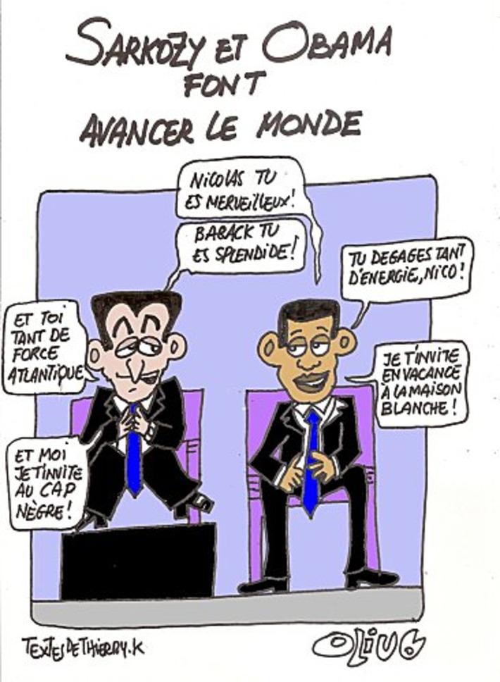 Sarkozy et Obama font avancer le monde | Baie d'humour | Scoop.it