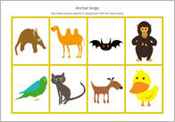 Animal Themed Bingo | Free Resources for Early Learning | Teaching EFL (English as a Foreign Language) | Scoop.it