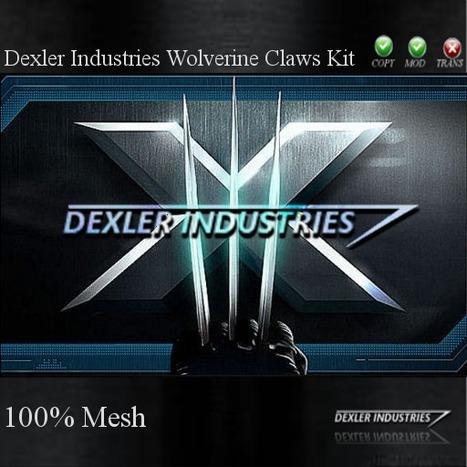 Wolverine Claw Kit by Dexler Industries   Second Life Freebies   Second Life Freebies   Scoop.it