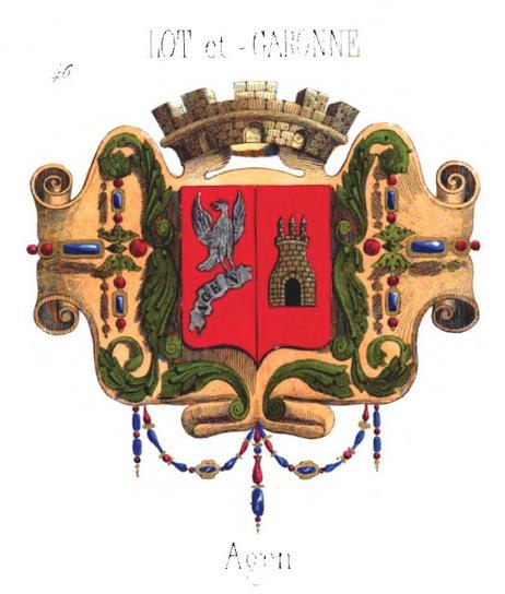 Les départements français et les blasons des préfectures à la fin du XIXe siècle avec le Fil Géographique #04 | Rhit Genealogie | Scoop.it
