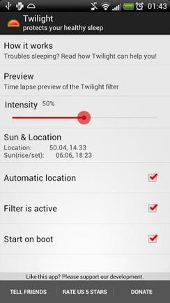 Twilight, aplicación móvil que te ayuda a dormir mejor #Android | apps educativas android | Scoop.it
