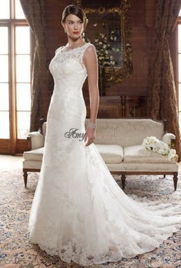 Cheap Lace Scoop Natural Lace Wedding Dresses Sale at Amydress.co.uk | amydress | Scoop.it