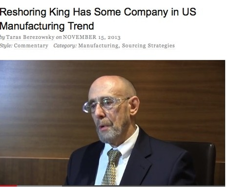 Reshoring King Has Some Company in US Manufacturing Trend   Manufacturing In the USA Today   Scoop.it