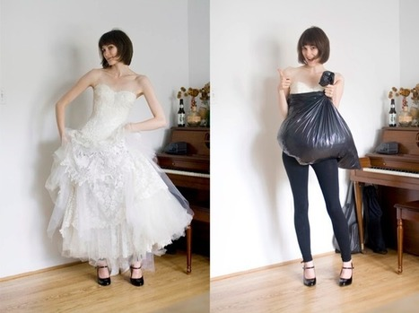 How a trash bag helps you go pee all by yourself while wearing big ol' wedding dress | Trucs et astuces du net | Scoop.it