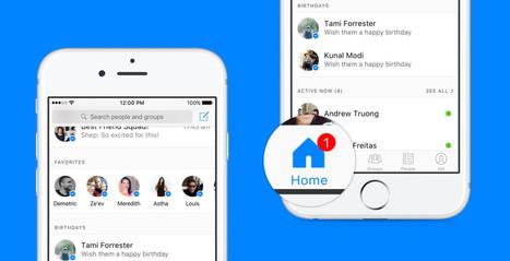 Facebook Messenger déploie une interface plus complexe | Stratégie digitale et médias sociaux | Scoop.it