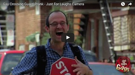 Gay Crossing Guard Prank - All Site Café | cool sites | fun sites | entertainment | play computer games | Scoop.it
