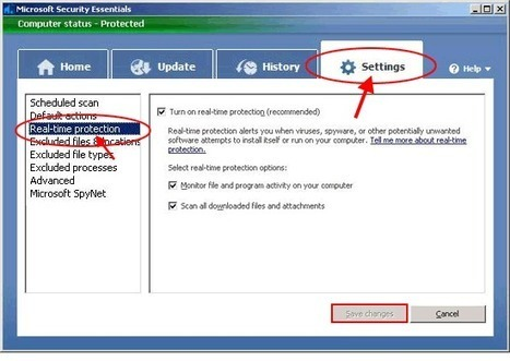 How do I turn off Microsoft Security Essentials | Online Virus Scan | Scoop.it