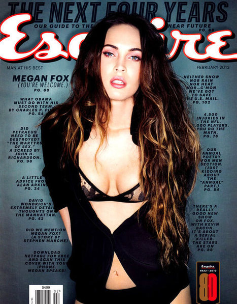 Sexy Megan Fox Shows Off Her Sexiness as Cover Girl in Esquire Magazine   Nightlife   Scoop.it