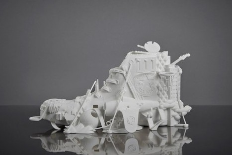 Sculpture 3D Converse par Damilola Odusote - Journal du Design | DPS - Digital Publishing Suite | Scoop.it