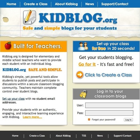 Kidblog in Education | Create: 2.0 Tools... and ESL | Scoop.it