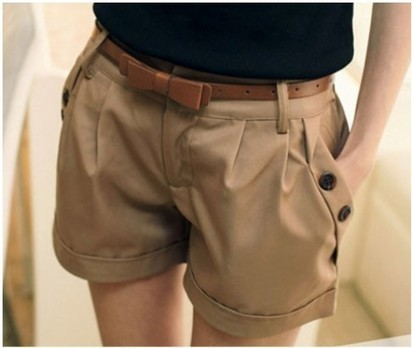 Summer Cotton Shorts with Belt – Choose Navy or Khaki | Daily Deals Online | Scoop.it