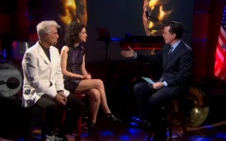 Watch David Byrne and St. Vincent on The Colbert Report | WNMC Music | Scoop.it