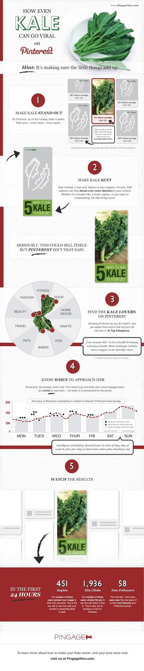 Even Kale Can Go Viral On Pinterest, And Here's How [Infographic] - Social News Daily | Pinterest | Scoop.it