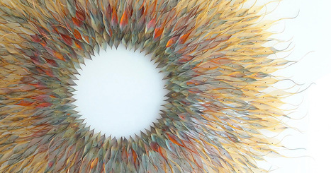 Woven Metal Leaf and Seed Installations by Michelle Mckinney #art #nature #sculpture #leaves #metal | Luby Art | Scoop.it