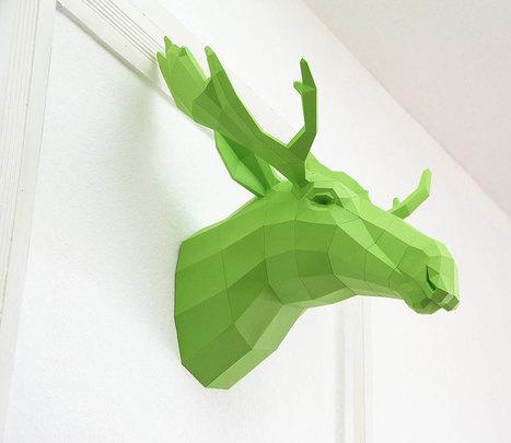 Geometric Paper Animal Sculptures By Wolfram Kampffmeyer | Art & Design: Digital & Analog - and (Interior) Architecture | Scoop.it