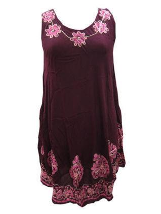 Boho Dress Maroon Batik Printed Rayon Sundress | Bohemian Fashion | Scoop.it