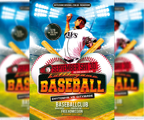 customizable Baseball Flyer Template PSD download – Excel Templates | ExcelTemp | Scoop.it